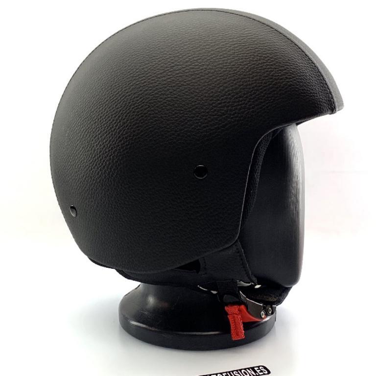 1fd09e9f755 Moto Fusión - Casco Jet Climax Custom Piel Negro