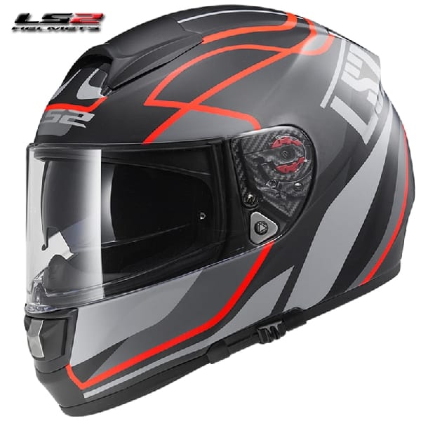 Casco Integral LS2 Vector Vantage Black-Red