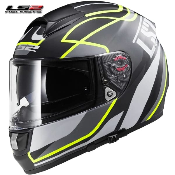 Casco Integral LS2 Vector Vantage Black-Yellow